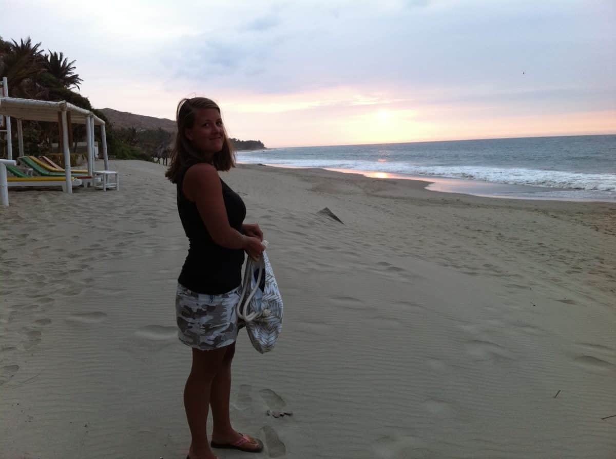 Miriam säljer yogakläder online i sitt företag Makila Clothing