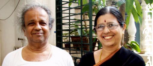 Jayashree and Narasimhan har workshop i de djupare aspekterna av yogan.