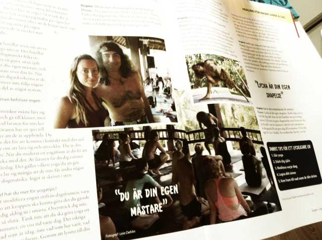 Danny Paradise i tidningen Inspire Magazine