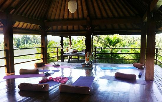 Vår shala på Bali
