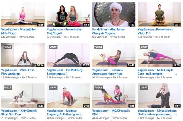 Gratis yogaklasser hos Yogobe.com