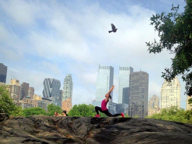Yoga i New York. Foto: Katja Gelkner