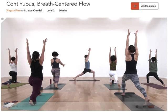 Yoga med fokus på andning med Jason Crandell på YogaGlo