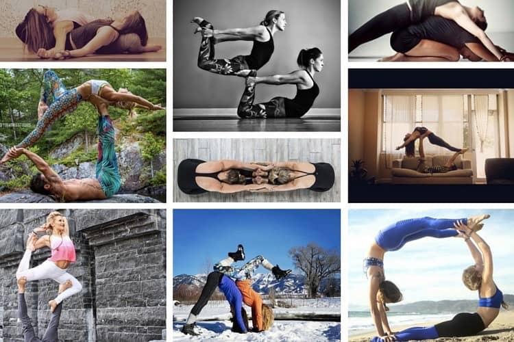 Inspiration på partner yoga att göra tillsammans med någon du tycker om!
