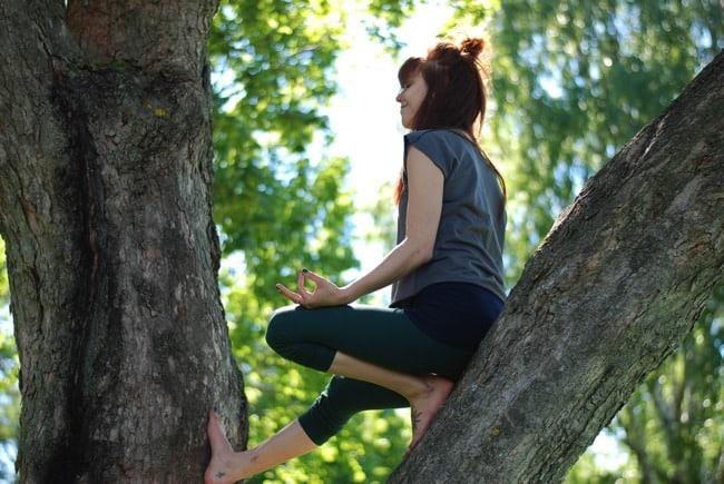 Veckans yogalärare Amanda Holmström.Fotograf: Saara Oinonen