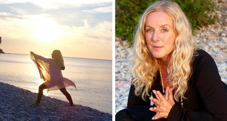 Veckans yogalärare Lou Åberg. Fotograf: Ola Aniel