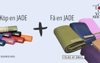 Köp en Jade yogamatta och få en Jade Voyager yogamatta på köpet!