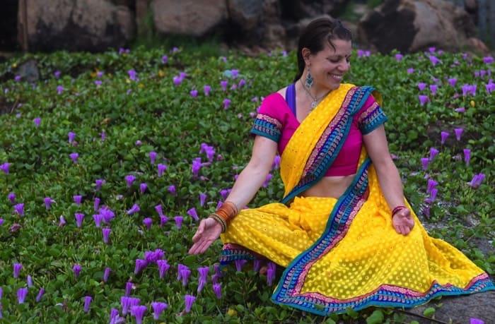 Veckans yogalärare Alexandra Arcari Gimdal. Foto: Chandrasekhar Singh