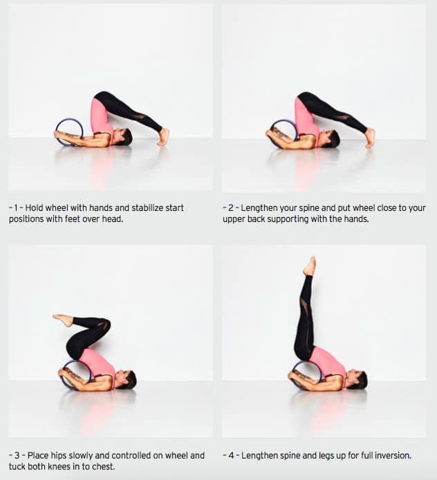 Yoga med Yoga Wheel: Skulderstående