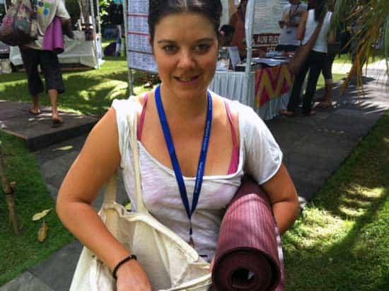 Martina Cederqvist på Bali Spirit Yoga Festival