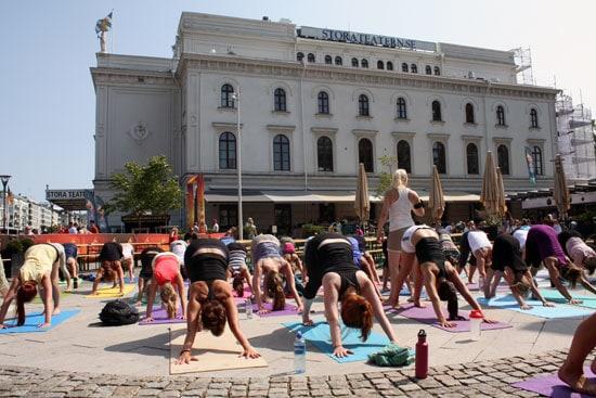 Yoga i Göteborg.