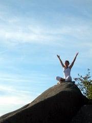 Yoga utomhus.