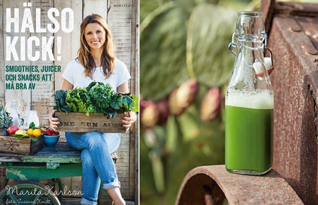 Recept på grön juice från boken Hälsokick.