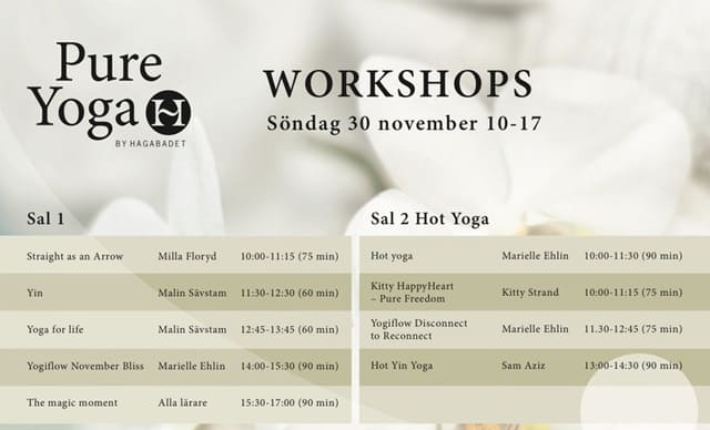 Pure Yoga - Ett nytt Yoga konvent på Fitnessfestivalen