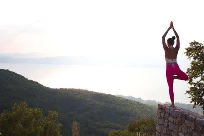 Yogaläraren Martina Davitknova
