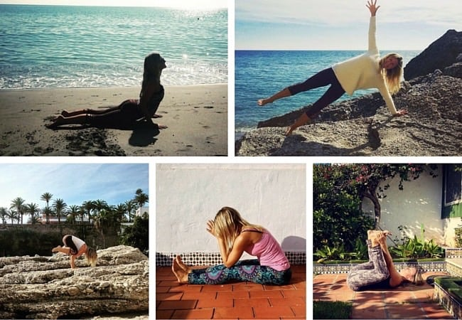 Yoga Challenge - veckans yogapositioner i Langley Travels tävlig på Instagram