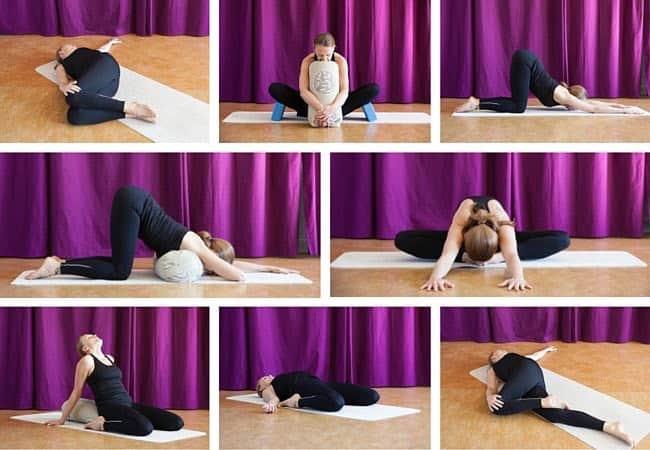 Yin yoga sekvens av Isse Magnusson. Foto: Matina Tsogas