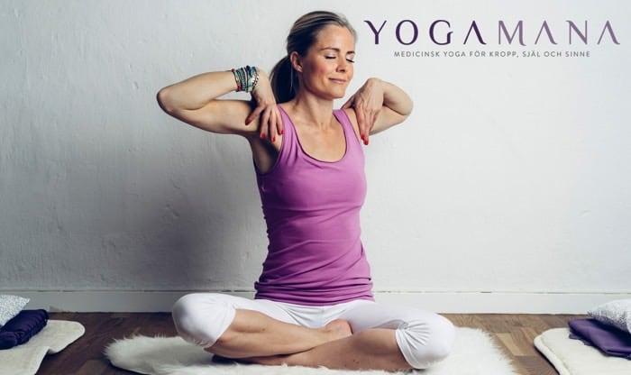Madeleine Wilhelmsson driver yogastudion YogaMana i Stockholm