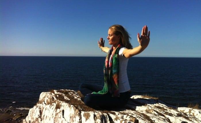 Yogaläraren Madeleine Wilhelmsson