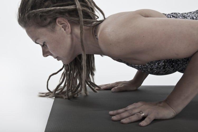 Yogaläraren Linda Wikström. Foto: Natalie Johansson