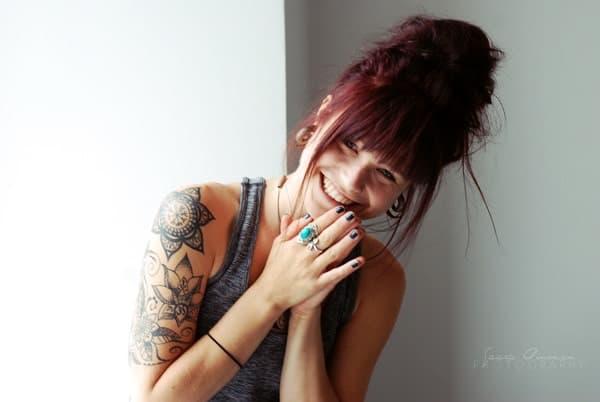 Veckans yogalärare Amanda Holmström