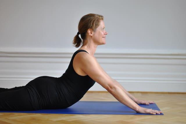 Yin yogapositionen sälen