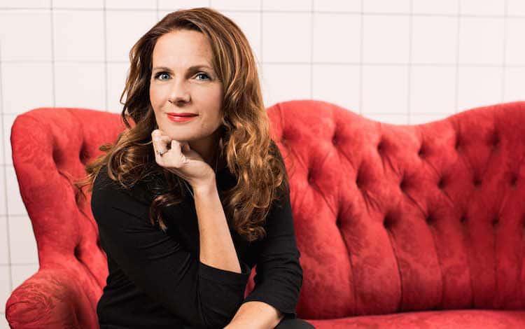 """Veronica Linarfve: """"Yoga är en förutsättning för mitt skrivande""""Foto: Lind & Co"""